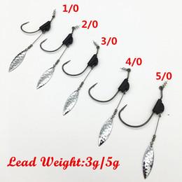 $enCountryForm.capitalKeyWord Australia - hook worm 10Pcs*Crank Hook With the Lead Sinker Metal Spoon Sequins Weight Lead Lure Spinner Soft Maggot Worm Hooks