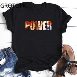 casual summer t shirt Australia - Power Cartoon Women's Tshirt Fashion Summer Short Sleeve Fashion Casual Short Sleeve O-Neck Printed Women T Shirt