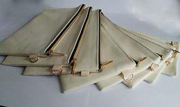 Dhl phone cases online shopping - DHL Cosmetic Bag Black Gold zipper cotton canvas cosmetic bags DIY women blank plain phone clutch bag organizer cases