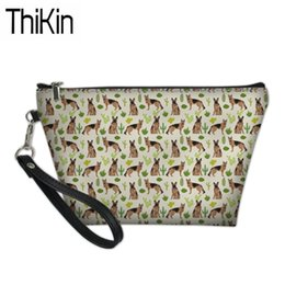 ladies travel cosmetic bag case NZ - THIKIN German Shepherd Printing Cosmetic Cases Women Travel Organizer Make Up Pouch Ladies Portable Wash Kit Bags Feminine Bolsa