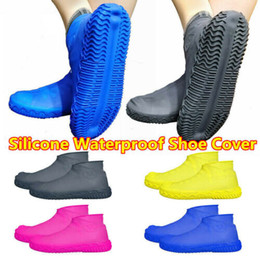 $enCountryForm.capitalKeyWord Australia - Recyclable Silicone Overshoes Rain Waterproof Wear Resistant Shoe Covers Boot Cover Protector