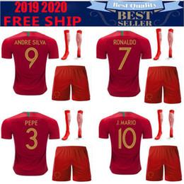Soccer ShirtS diScount online shopping - 2018 European Cup PT National Team away FIGO Soccer Jersey Shirts Discount Cheap mens J MOUTINHO Wear