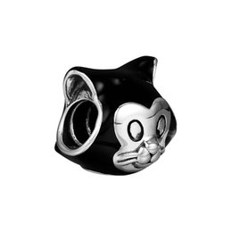 5c0a6a4ae Pandora Cat Charms Australia - Figaro Portrait Charm Cat Beads charms  sterling silver 925 fits for