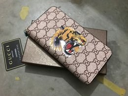 Best Brand Leather Purses Canada - 2019 3A woman ladies best quality famous brand long single zipper Genuine Leather men wallet Genuine Leather women purse with box card