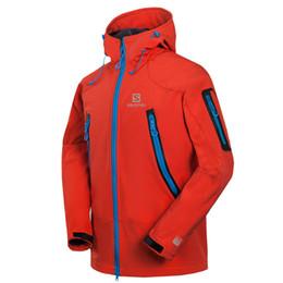 Windbreaker Orange NZ - 2018 New Men Coat Mens Sports Windproof Windbreaker Jacket Warm Coat Winter Sportwear 1460