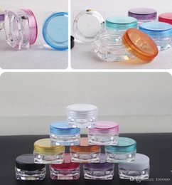 Cream Powders Australia - Hot Sale 1000 pieces lot Empty 3g cream jar 3cc powder jar cosmetic container makeup box