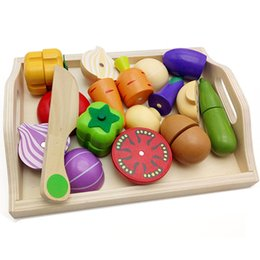 $enCountryForm.capitalKeyWord NZ - Baby Kitchen Toys Pretend Play Wooden Toys Cutting Fruit and Vegetable Educational Classic Toys for Mother Garden Childre Gifts
