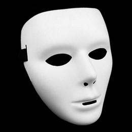 Full White Face Mask Woman Australia - Cosplay Halloween Festival PVC White Mask Party Toys Unique Full Face Dance Costume Mask for Men Women for Gift