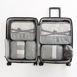 types set clothes Australia - High-grade 7pcs set Suitcase Organizer Koffer Organizer Sets Luggage Laundry Pouch Packing Set Storage Bag for Clothes
