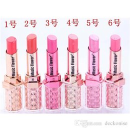 $enCountryForm.capitalKeyWord NZ - Music Flower Hot Selling 12 colors Fashion Makeup Bright Lipstick Waterproof Long Lasting Baby Pink Miosturizer Lipstick
