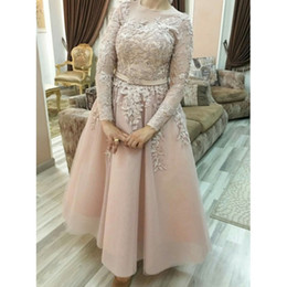 Gold muslim dress online shopping - Plus Size Prom Cocktail Dresses Arabic Muslim Evening Formal Gown Prom Dress