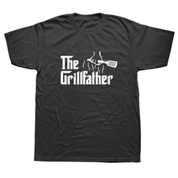 Flash grill online shopping - Men s Fashion The Grillfather Grey Funny BBQ Grill Chef Tee Shirt Cotton Short Sleeve