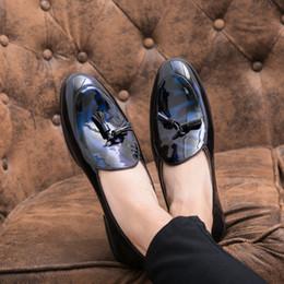 Men Shoes Australia - Dress Shoes Men 2019 Fashion Round Toe Loafers Patent Leather Oxford Shoes for Men Formal Mariage Wedding Shoes Big Size