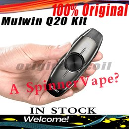 spinner building NZ - 100% Authentic l mulwin Newest arrival spinner POD vape starter kit Q20 ceramic coil 2ml atomizer with built-in battery 300mah DHL