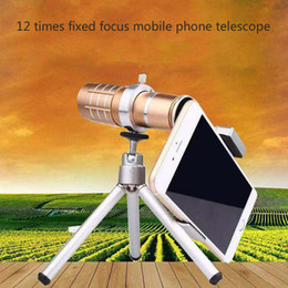Wholesale 12 times mobile phone telescope universal times telephoto photographic lens with universal clip tripod travel shooting artifact