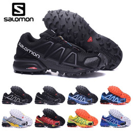 Cross boots online shopping - 2019 Salomon Speed cross IV CS Trail Running Shoes for Men black red blue Outdoor Hiking Athletic Sports Sneakers size