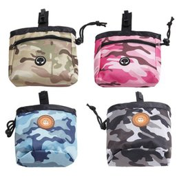 dog pack medium NZ - Pet Oxford Camouflage Outdoor Training Pouch Portable Dog Training Treat Bags Waist Back Food Bag Dogs Snack Bag Pack