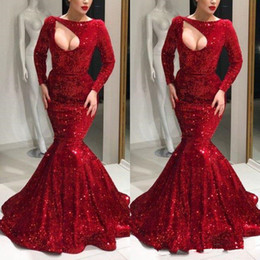 859299c3e7 Formal Sheer Sparkly Plus Size Jacket NZ - Sparkly Red Sequins Mermaid Prom  Formal Dresses with