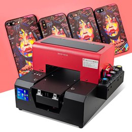 Wood Case For Glasses Australia - 2019 Best Quality A4 UV printer machine for phone case TPU plastic pen leather wood glass PVC card acrylic board free with ink