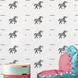 Diy Living Room Furniture Australia - Creative Cartoon Ctue DIY Animal horse zebra Wall Sticker Wallpaper Furniture Cabinets Decal Kids baby Room Home Decorative YQT081