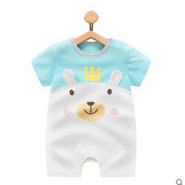 $enCountryForm.capitalKeyWord Australia - 2019 Baby Onesies Summer Cotton Romper Boys Girls 0-24 Months Kids Clothes Knitted Cartoon Short-sleeved Jumpsuit Outfits TC190624