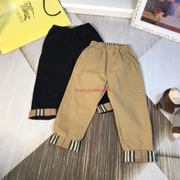 bohemian style pants NZ - Children's casual pants kids designer clothing autumn new boys and girls trousers striped stitching design pants