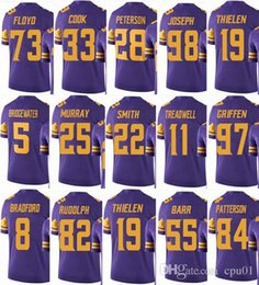 VIKING Minnesota  19 Adam Thielen  22 Harrison Smith  33 Dalvin Cook  14  Stefon Diggs Men Women Youth Color Rush Elite Football Jerseys a8394f378