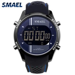 $enCountryForm.capitalKeyWord Australia - SMAEL Men Digital Wristwatches Silicone Waterproof LED Sports Smart Watches for Male Running Fashion Cool Electronic Watches