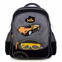 School Book Bags NZ - Delune Brand Boys Creative School Bags For Girls Children Fashion Primary Students Backpacks Cartoon Cars Design Book Schoolbag