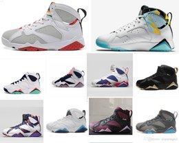 8b4ad645fd464d Mens AJ 7 basketball shoes retro jumpman VII Air flight 7S Fuchsia Flash  glow Hot lave women kids sneakers boots with original box