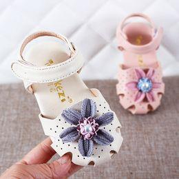 Elegant Flower Girl Shoes Australia - Toddler Infant Kids Baby Girls Sweet Elegant Pearl Flower Princess Shoes Sandals Infant Squeaky shoes tipsietoes moccasins