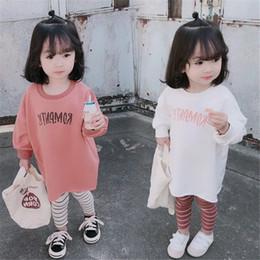 korean kid white dress 2019 - Kids Girls Sweatshirt Casual Korean Letter Print Hoodies For Girls Cotton Lantern Sleeve Toddler Clothing Dress Sweatshi