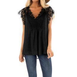 $enCountryForm.capitalKeyWord Australia - Gothic Womens Tops And Blouses Woman Clothes Summer 2019 Black Lace Blouse V Neck Ladies Tops Womens Korean Fashion Clothing