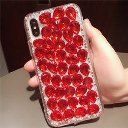 $enCountryForm.capitalKeyWord NZ - Luxury 3D Bling Glitter Rhinestone Phone Case For iphone X 6 6S 7 8 Plus 5S XS Max XR Samsung Galaxy S6 S7 edge S8 S9 Plus Note 8 Back Cover