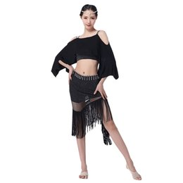 $enCountryForm.capitalKeyWord UK - 2018 Women Belly Dance Clothing Modal Clothes Off Shoulder Bat-wing Sleeves Fringe Skirt Bellydance Costume Class Wear