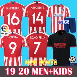 3872379f Men+Kids 19 20 JOAO FELIX Atletico Madrid Soccer Jersey #9 Morata 2019 2020  camiseta de fútbol M.Llorente JOÃO FÉLIX Soccer shirt kits jerse