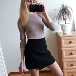 $enCountryForm.capitalKeyWord Australia - Skirts Woman Woman Pencil Skirt Lolita Bodycon Sexy Slim High Waist Jupe Petticoat Skinny Black Skirt Cotton Robe