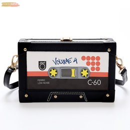 high end hand bags NZ - Plain Personality Tape Cassettes Evening Clutch Bag Women Hard Box Clutch High End Hand Bag Small Party Purse Shoulder Bag
