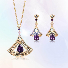 $enCountryForm.capitalKeyWord Australia - Cheap jewelry Simple necklace earrings set TOP quality alloy jewelry set for female best gift free shipping 61172558