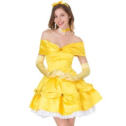 34151fab7b7f7 Anime Princess Costumes UK - Anime Movie Fairy Yellow Princess Fancy Dress  Carnival Halloween Cosplay Costume