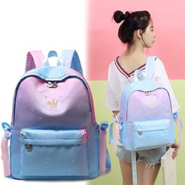 $enCountryForm.capitalKeyWord NZ - 1Both Shoulders Package Woman 2019 Hit Color Bow Princess Backpack Will Capacity Oxford Cloth Backpack
