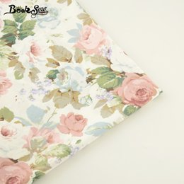 $enCountryForm.capitalKeyWord Australia - Booksew Sewing Cloth Printed Rose Design 100% Cotton Twill Fabric Bed Sheet Quilting Tecido For Baby DIY Patchwork Scrapbooking