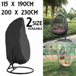 outdoor patio swings UK - Outdoor Waterproof Patio Swing Hanging Egg Chair Cover Garden Furniture Protect