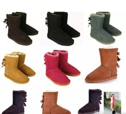Sale Snow Boots Australia - EU25-43 Factory sale NEW Australia classic tall winter boots real leather Bailey Bowknot women's kids bailey bow snow boots shoes boot