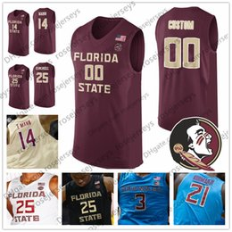 f695e8c08f28 Custom Florida State Seminoles College Basketball Red Gold Black White Any  Name Number 25 Mfiondu Kabengele 14 Terance Mann 2019 FSU Jerseys