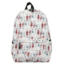 Discount college bags for girls laptop - Teenagers Printed Bagpack Women College Canvas Schoolbag Laptop Backpacks for Men BackPack for School Bag Girls Travel B