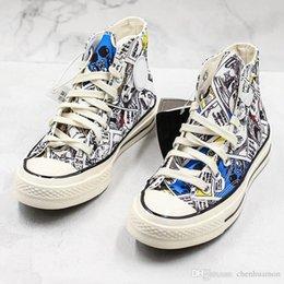 $enCountryForm.capitalKeyWord Australia - One Piece X Conver Original Designer Art Graffiti Men Women New Release High Skateboard Shoes Canvas