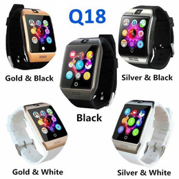 Bluetooth Smart Watch Sim Australia - Bluetooth Smart Watch Q18 With Camera Facebook Whatsapp Twitter Sync SMS Smartwatch Support SIM TF Card IOS Android Men Touch Camera Phone