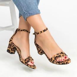 $enCountryForm.capitalKeyWord Australia - New Leopard High Heels Women Sandals Gladiator Ladies Summer Block Heel Open Toe Shoes Yellow Red Sandals Big Size Zapatos Mujer Y19070203
