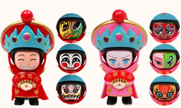 Discount opera dolls - New Sichuan Opera Face Change Doll Shaanxi Characteristic Crafts Creative Gift Children's Toys